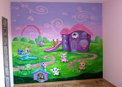 malowidło ścienne w pokoju dziecka