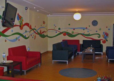 wzory dekoracyjne namalowane na ścianach