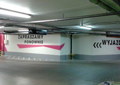 pomalowane ściany - SIW oznakowanie parkingu - malowanie dekoracyjne