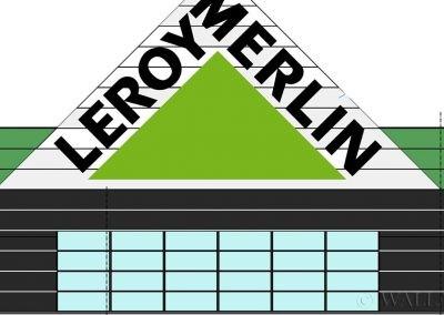 otrzymany projekt - Leroy Merlin - Mielec - logotyp malowany
