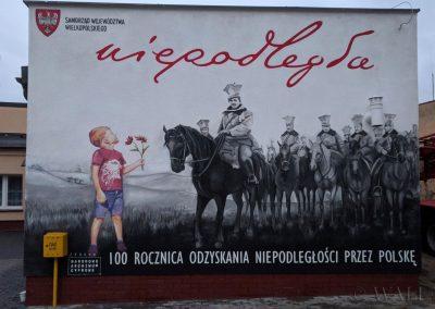 wykonany mural patriotyczny (Wyrzysk)