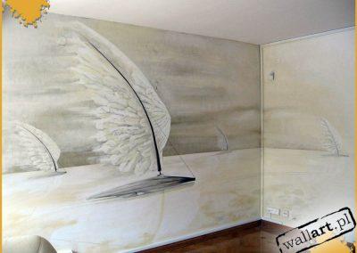 malowidło ścienne w biurze