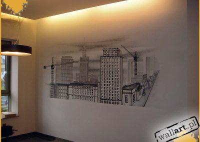 malowidło ścienne w biurze - Warszawa