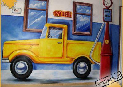 namalowany samochód