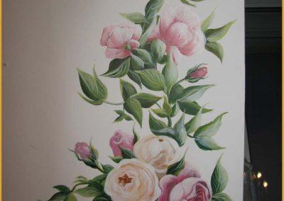zbliżenie - namalowane róże