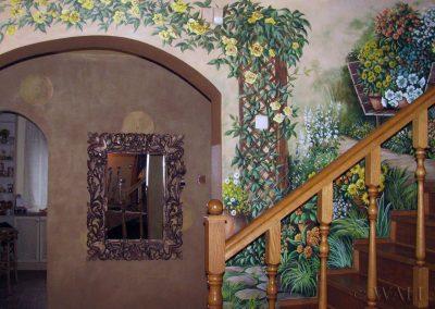 malowidło ścienne na schodach