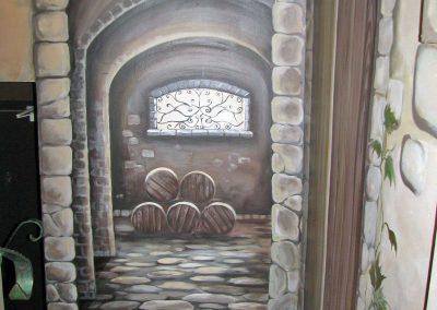 malowidło ścienne - piwniczka