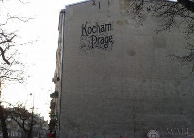 mural Kocham Pragę Warszawa