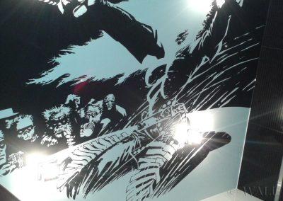 wykonane malowidło na suficie - Sin City