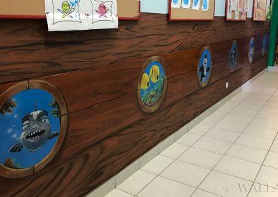 wykonane malowidło - korytarz w przedszkolu