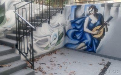 286. Mural na tarasie