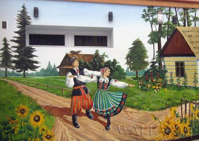 zbliżenie murala