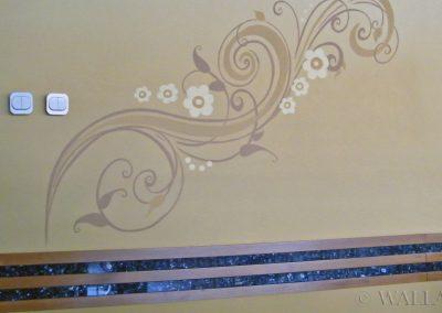malowidło ścienne  - dekoracyjny ornament