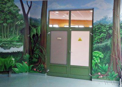 malowidło ścienne w szkole