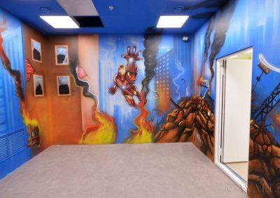 malunki na ścianie - malowidło Avengers