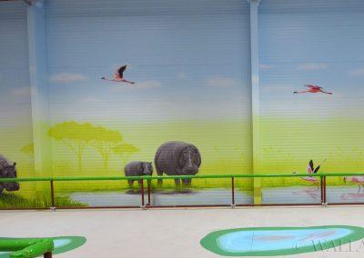 malowidła ścienne - sala zabaw