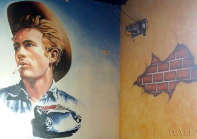 malowidło ścienne w lokalu