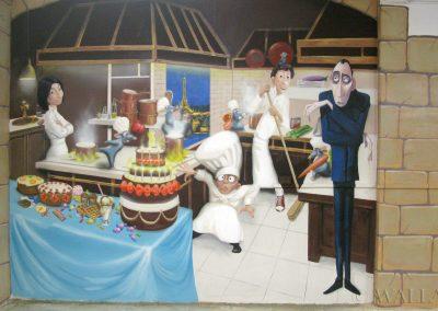 malowidło ścienne - Ratatuj