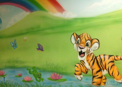 malowidło ścienne dla dzieci - tygrysek