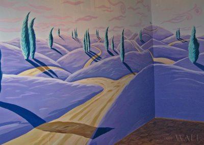 wykonane malowidło ścienne w pokoju
