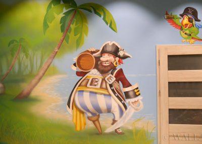 malowidło na ścianie - pirat
