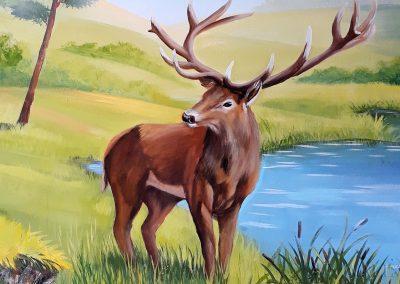 malowidło ścienne - jeleń