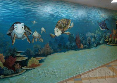 malowidło ścienne - podwodny świat