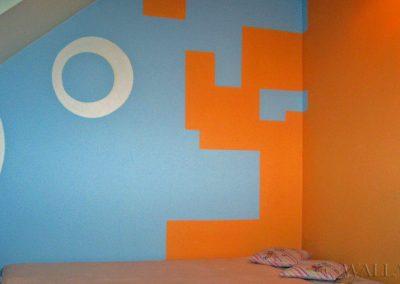 kolorowa ściana - dekoracyjne wzory na ścianie