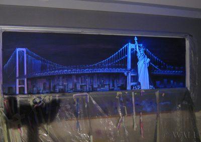 malowidło ścienne fluorescencyjne UV - Nowy York