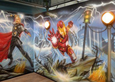 malowidła ścienne - Avengers