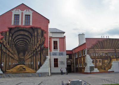 wspaniały mural - biblioteka publiczna w Ustroniu
