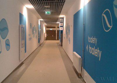 malowanie dekoracyjne - korytarz do toalet Galardia