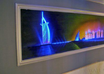 malowidło ścienne fluorescencyjne UV - Dubaj