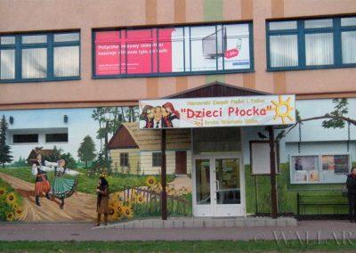 mural - artystyczne malowanie ściany - Dzieci Płocka