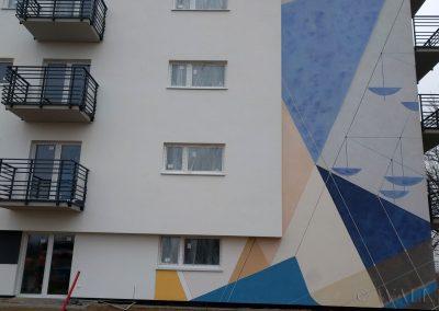 mural na ścianie - osiedle Futura, Gdańsk