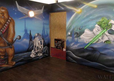 pomalowane ściany - Gwiezdne Wojny