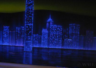 malowidło fluorescencyjne UV - Hong Kong