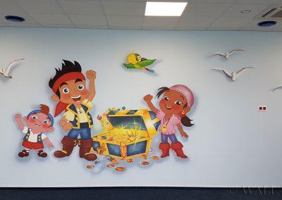 malowidło na ścianie - Jake i piraci z Karaibów