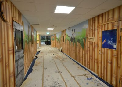 malowidła ścienne - korytarz bambusowy