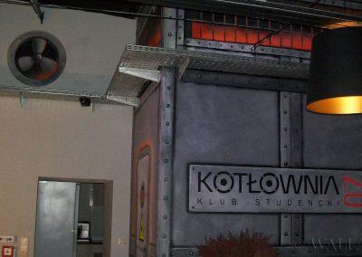 malowidło ścienne - klub Kotłownia Toruń