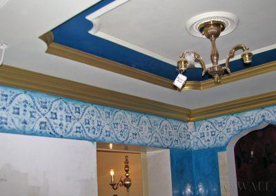 malowidło na suficie - orientalne ornamenty dekoracyjne