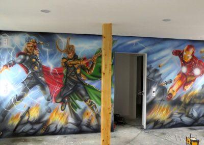 malowidło ścienne - Avengers - obraz namalowany aerografem