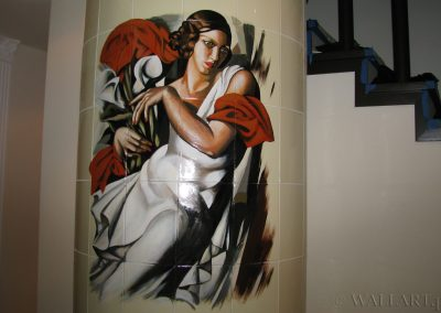 malowidło na kominku