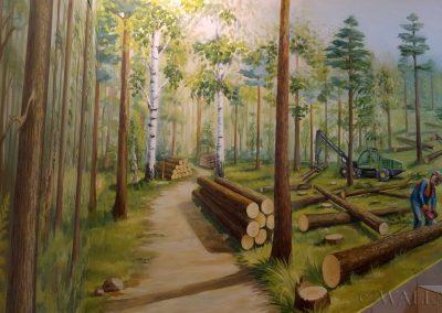 namalowany las - malowidło ścienne