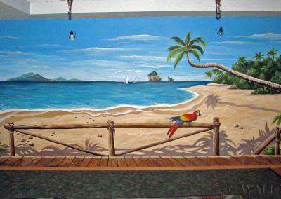 malowidło ścienne - plaża, morze
