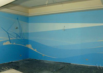 malowidło ścienne w pokoju