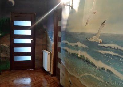 malowidło ścienne - morze