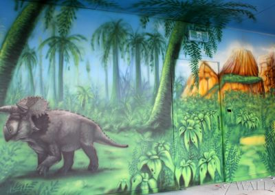 malowidło ścienne - pokój urodzinowy - dinozaur
