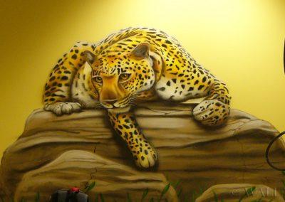 malunki na ścianie - obraz lampart