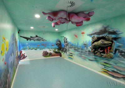 malowidła ścienne - rafa i podwodny świat